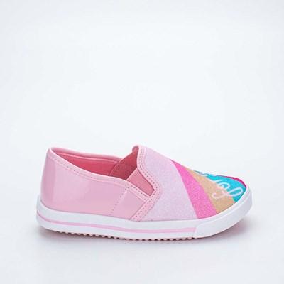 Tênis Infantil Feminino Kidy Love Baby Rosa e Colorido