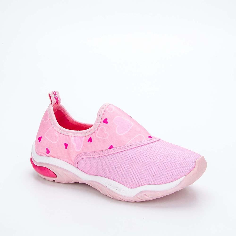 Tênis Infantil Feminino Kidy Play Respi-Tec Rosa e Pink e Lilás  com brinquedo