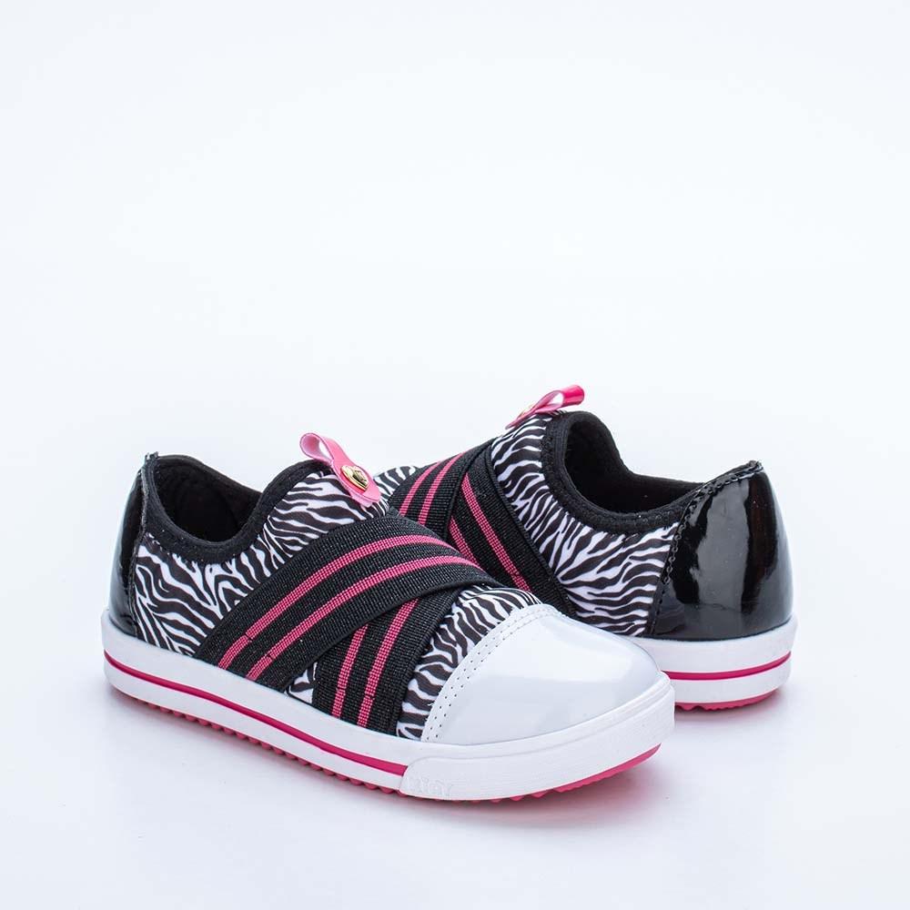 Tênis Infantil Feminino Love Baby Animal Print Zebra