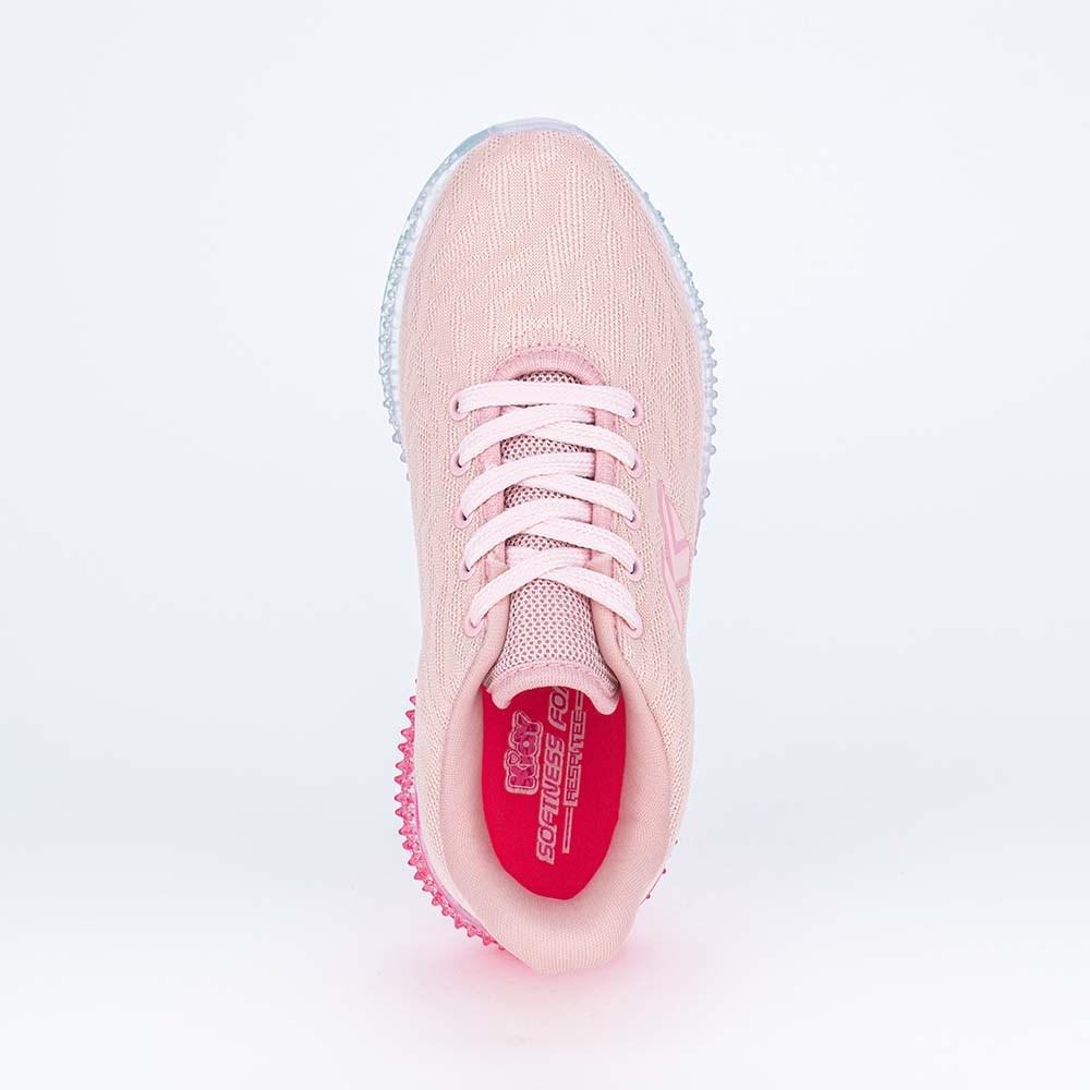 Tênis Infantil Feminino Sola Illusion Rosa Nude e Pink Neon