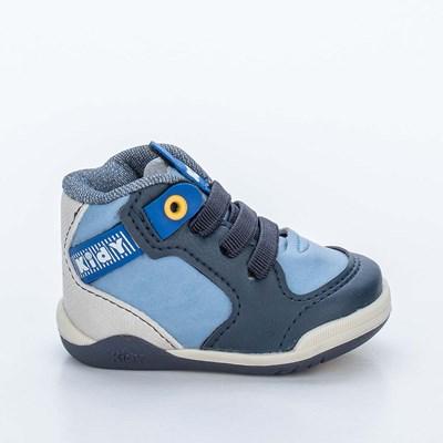 Tênis Infantil Kidy Colors Menino Marinho e Azul Stone
