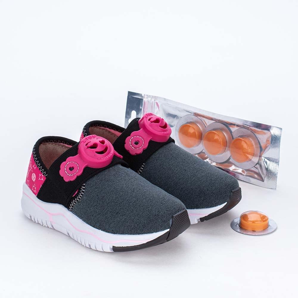 Tênis Infantil Kidy Protect Repelente Calce Fácil Preto