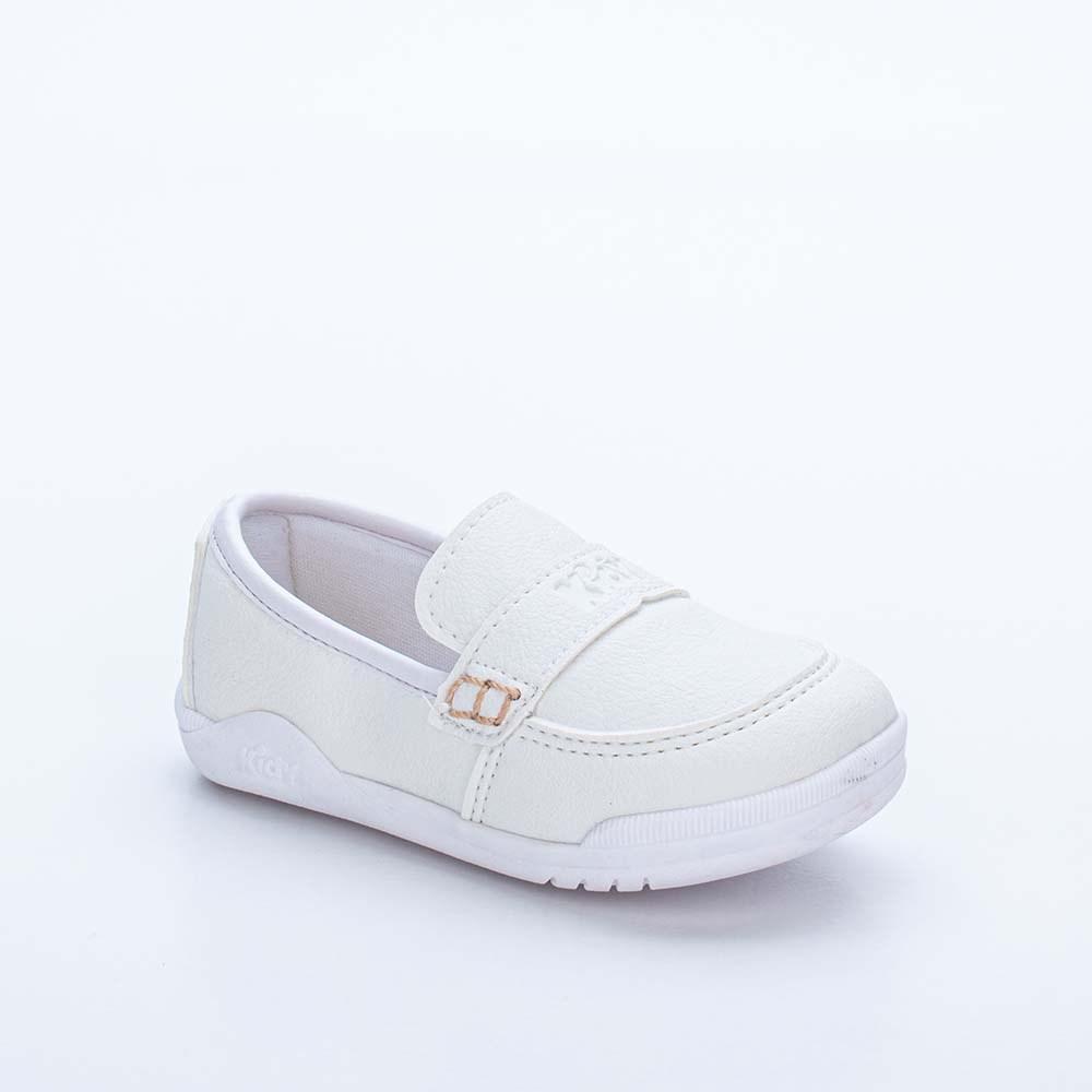 Tênis Infantil Masculino Kidy Colors Menino Branco