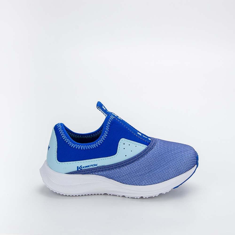 Tênis Infantil Masculino Kidy Energy Baby Respi - Tec Azul e Azul Bebe