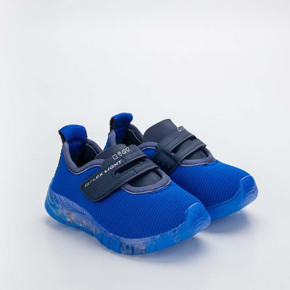 Tênis Infantil Masculino Kidy Flex Light Azul Royal e Marinho