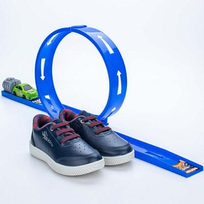 Tênis Infantil Masculino Kidy Looping Marinho e Vermelho  com brinquedo