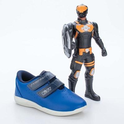 Tênis Infantil Masculino UseFull Kidy CyberNite Azul Royal e Marinho  com brinquedo