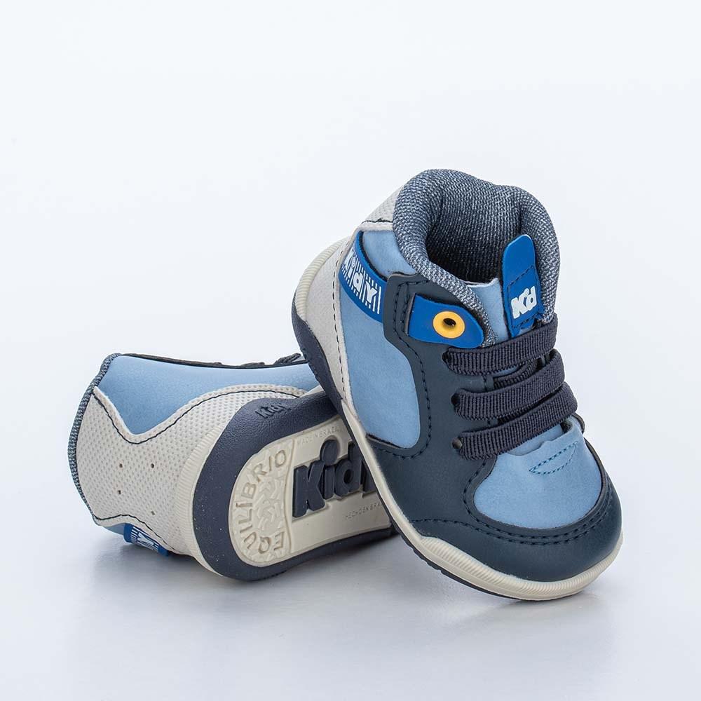 Tênis para Bebê Cano Alto Kidy Colors Marinho e Azul