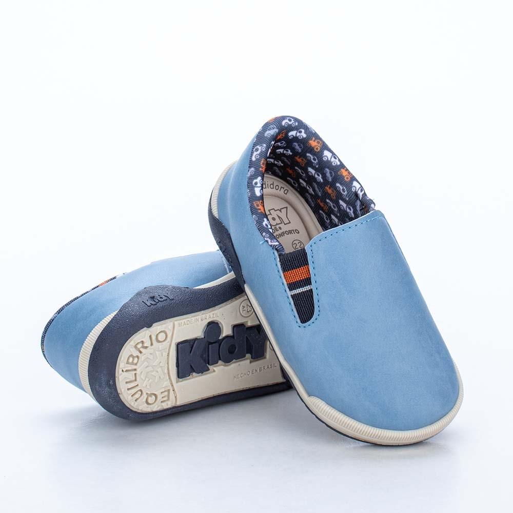 Tênis para Bebê Kidy Colors Azul com Brinquedo Interativo