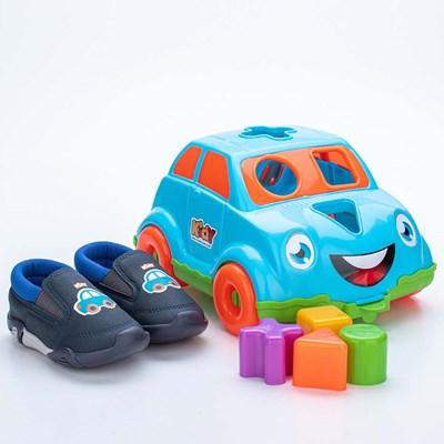 Tênis para Bebê Kidy Colors Marinho com Brinquedo
