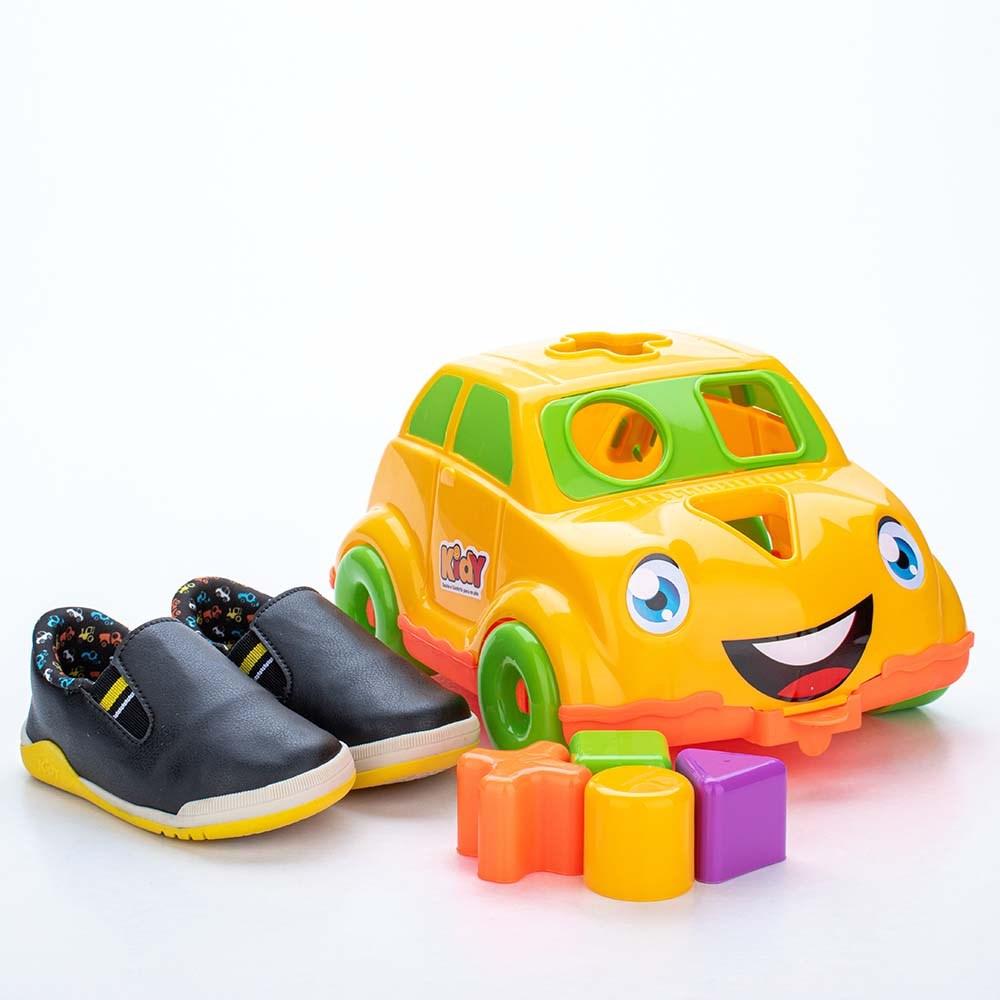 Tênis para Bebê Kidy Colors Preto com Brinquedo Interativo