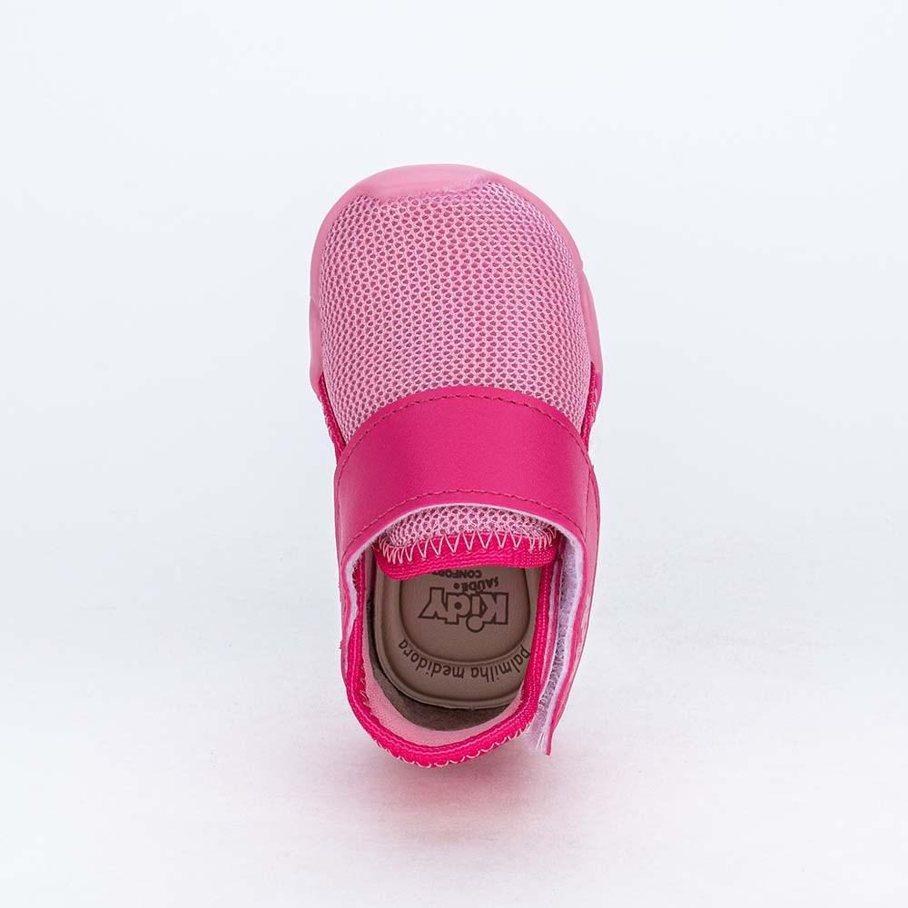 Tênis para Bebê Menina Kidy Colors Calce Fácil Rosa e Pink