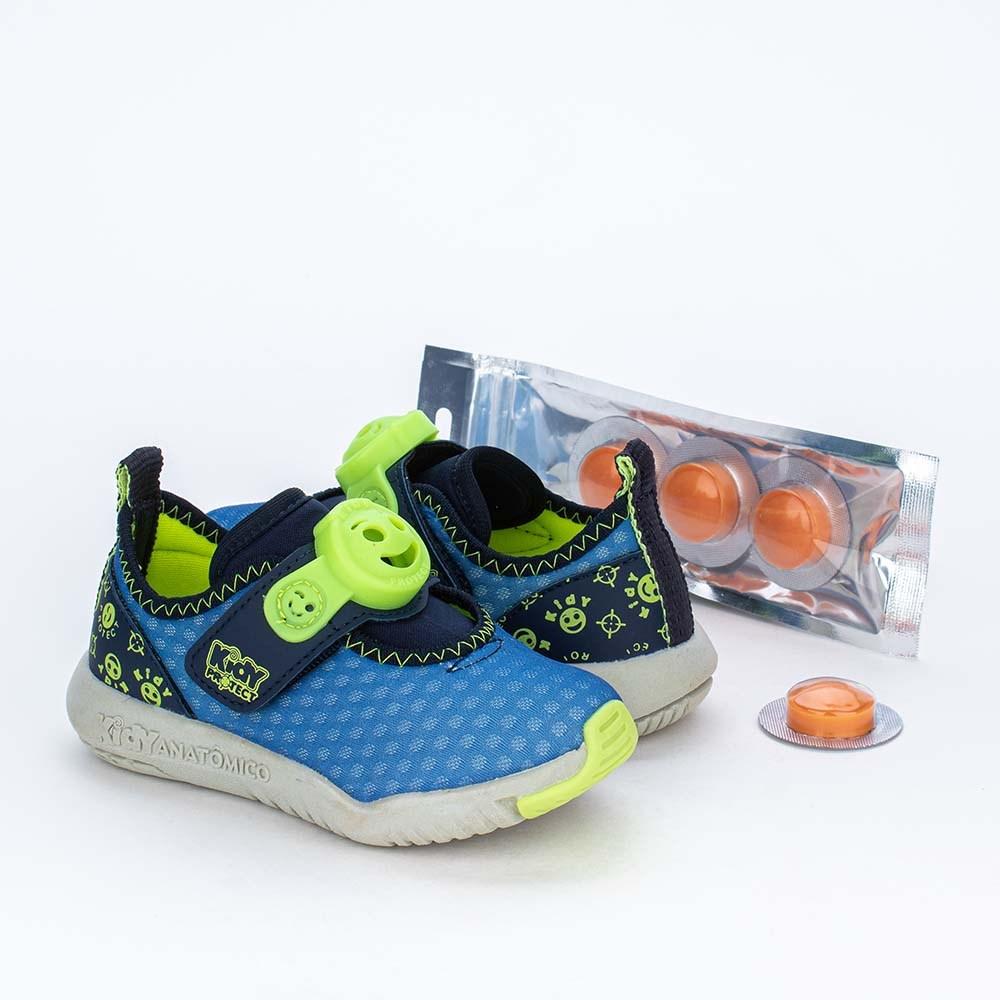Tênis Primeiros Passos Kidy Protect com Repelente Azul