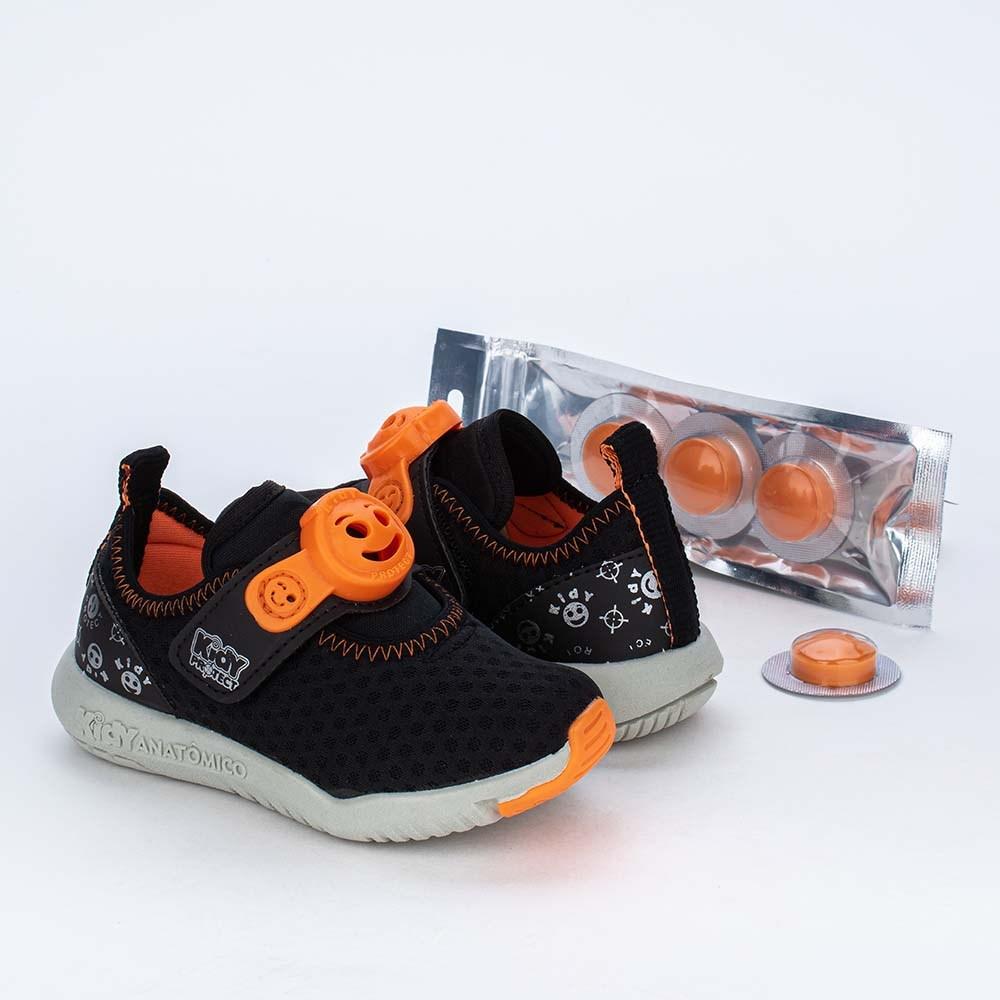 Tênis Primeiros Passos Kidy Protect com Repelente Preto