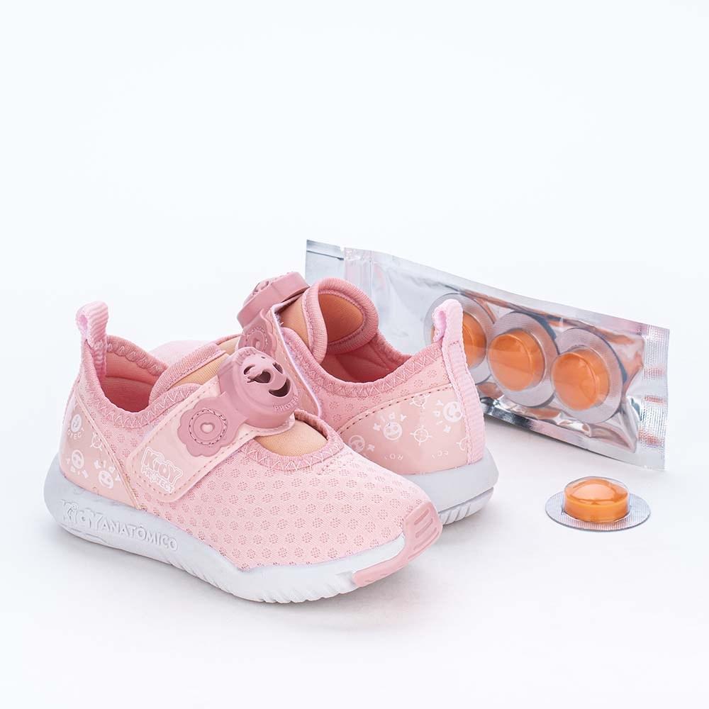 Tênis Primeiros Passos Kidy Protect com Repelente Rosa Nude