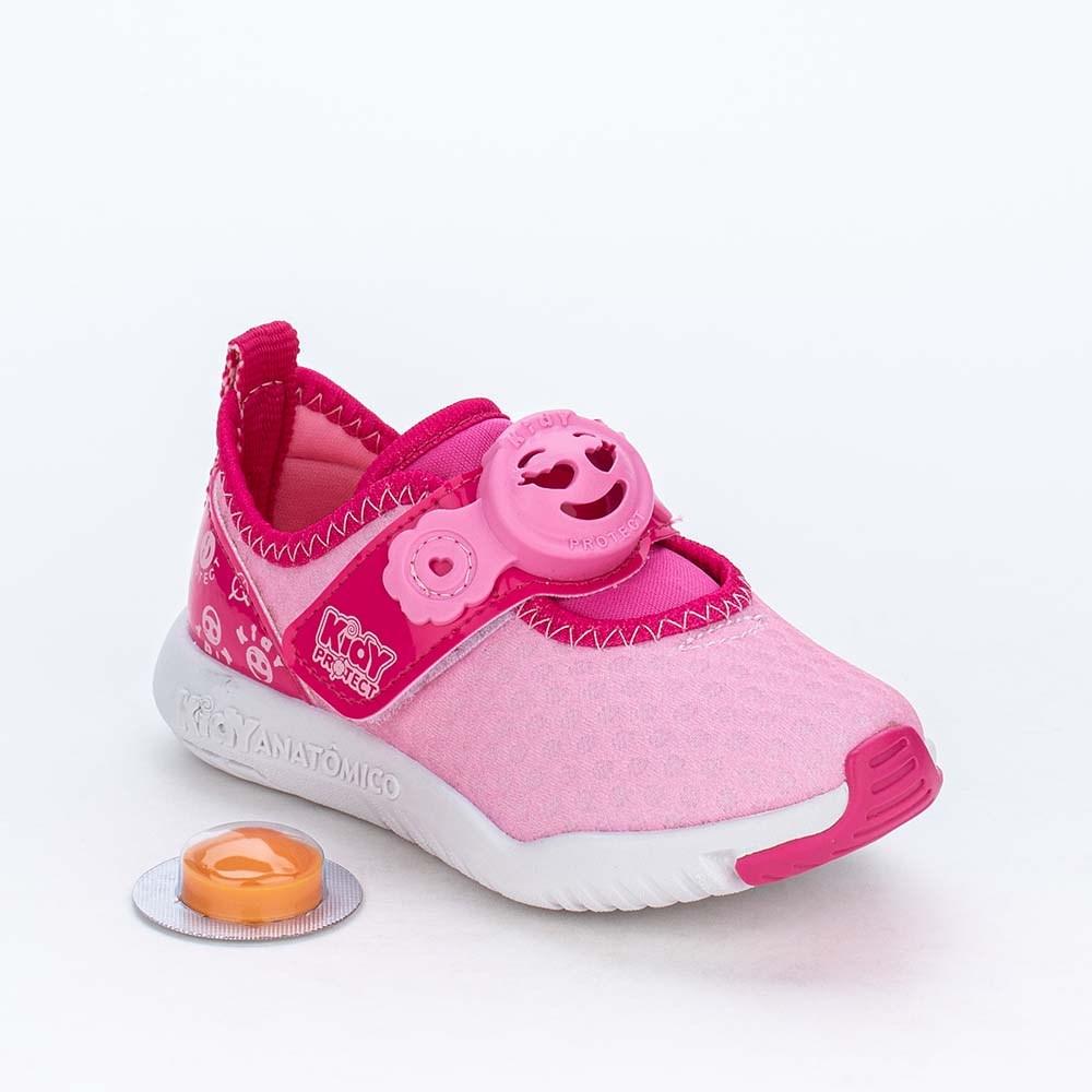 Tênis Primeiros Passos Kidy Protect com Repelente Rosa Pink