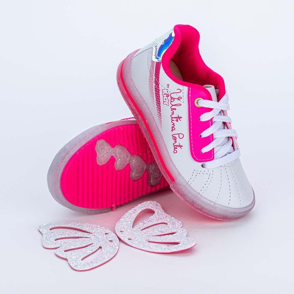 Tênis Valentina Pontes Asas para Pés Menores Branco e Pink