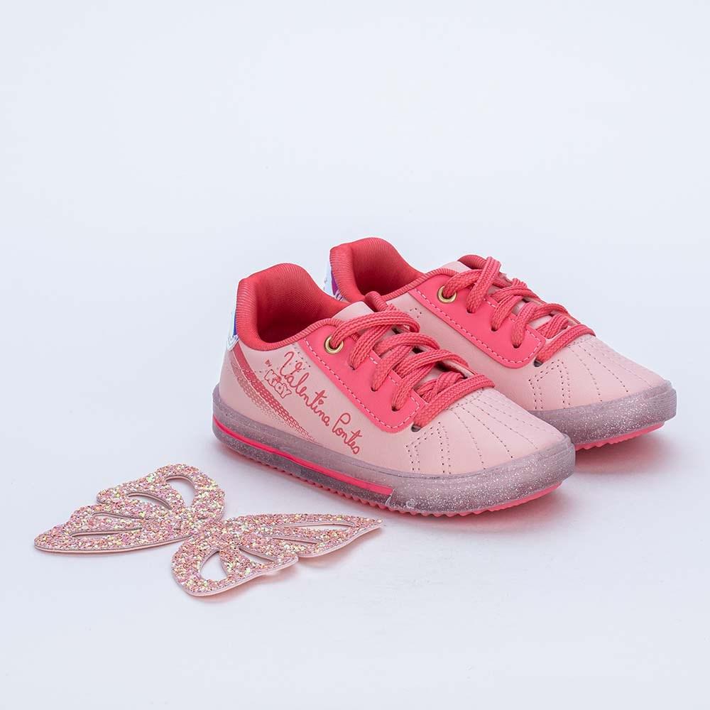 Tênis Valentina Pontes com Asas para Pés Menores Branco e Pink